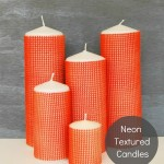 Tut Tuesday: DIY Neon Textured Candles