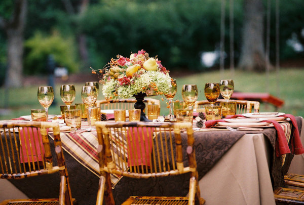 Fall party, Harvest party, Autumn Dinner, Table