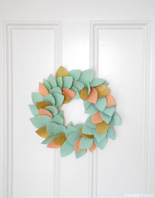 Fresh Find Friday, Christmas Wreath, Paper Wreath, The Red Thread, The Proper Pinwheel