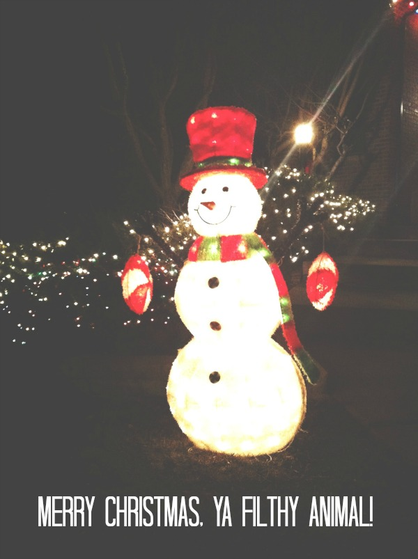 Merry Christmas, Snowman, Yard Lights, Mission Merry 2012, The Proper Pinwheel