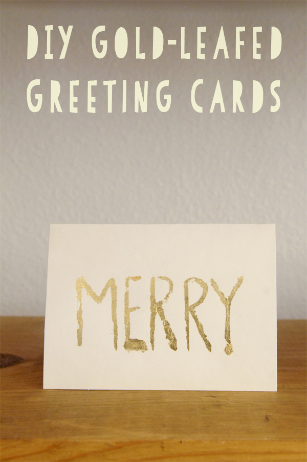 DIY, Gold-leafed, Greeting Cards, Holiday, Christmas Crafts, The Proper Pinwheel, Mission: Merry 2012