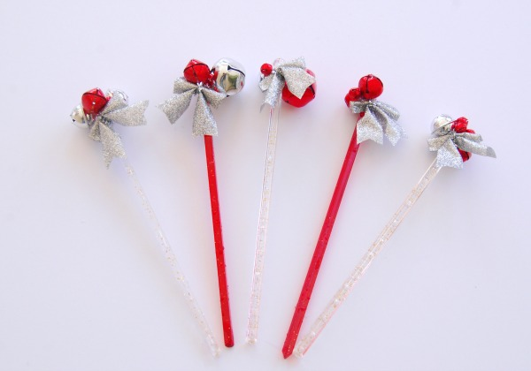 Jingle bell, DIY, Holiday DIY, Christmas Craft, Cocktail Party, Stir Sticks, Mission Merry, The Proper Pinwheel, Christmas Drinks