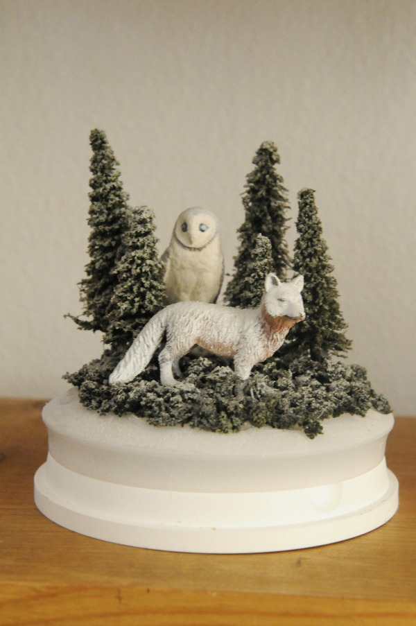 Winter Forest, The Proper Pinwheel, Mission Merry, Snow Globe, Winter Scene, DIY