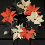 DIY Paper Poinsettia Wreath