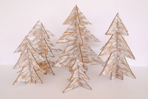 DIY Cardboard Christmas Trees : The Proper Pinwheel