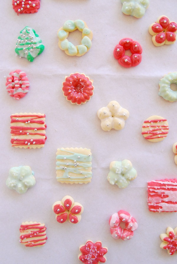 Holiday Spritz Cookies, Frosted Cookies, Christmas cookies, The Proper Pinwheel, Mission Merry 2012