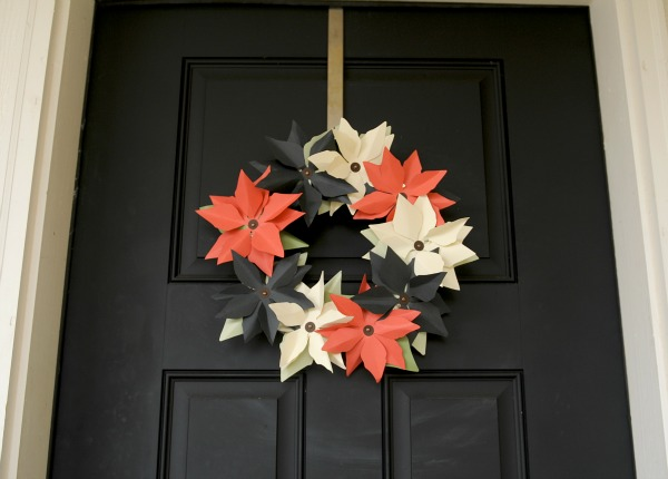 Mission: Merry 2012, The Proper Pinwheel, Holiday DIY, Paper Crafts, Poinsettia Wreath, Poinsettia DIY