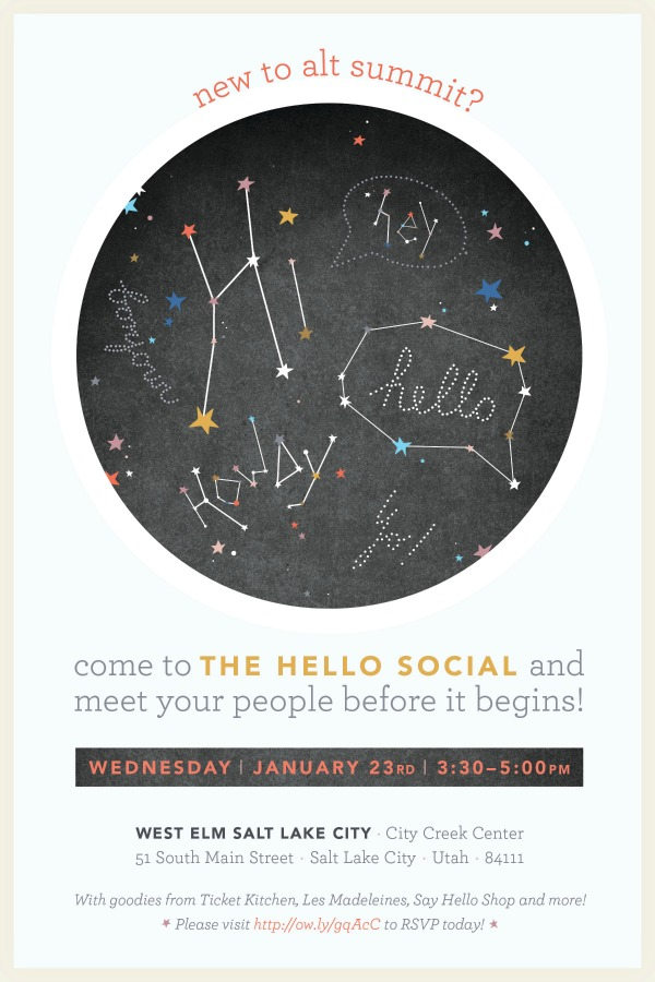 The Hello Social, Alt Summit, The Proper Pinwheel, Lulu The Baker, West Elm