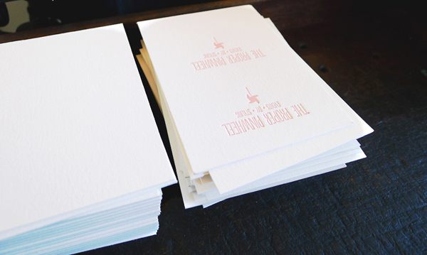 Alt Summit Business Cards, The Proper Pinwheel,  Letterpress Cards, Bears Eat Berries Press