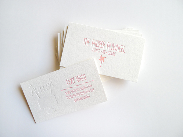 Alt Summit Business Cards, The Proper Pinwheel, Letterpress, Bears Eat Berries Press