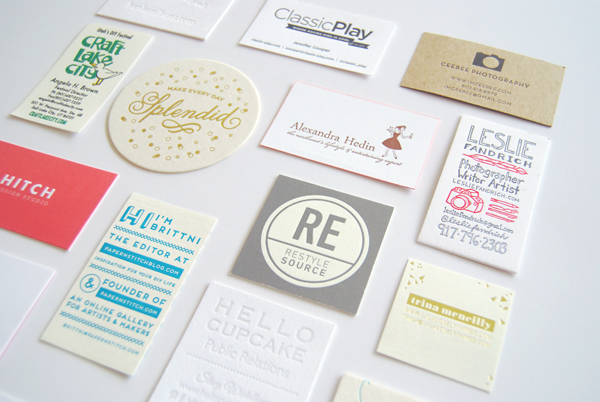 Alt Business Cards - Best Letterpress, Black & White, and Color & Shape