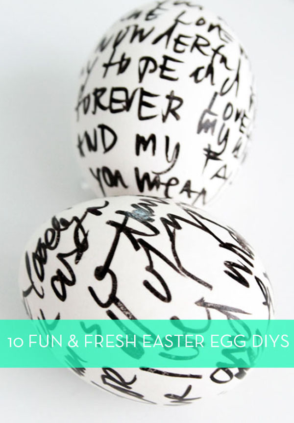 10 Easter Egg Decorating Ideas via Curbly