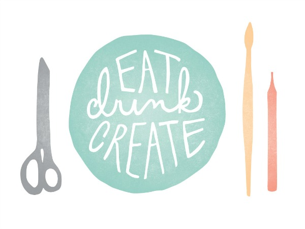 EAT DRINK CREATE event by The Proper Pinwheel and Art Social