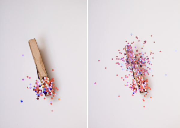 Glittered Clothespins by 52 Weeks Project