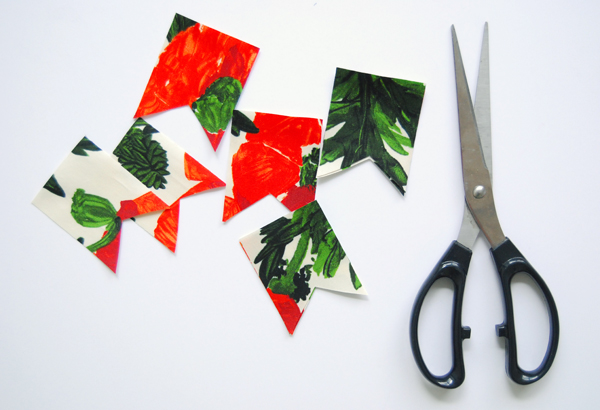 DIY no-sew fabric bunting