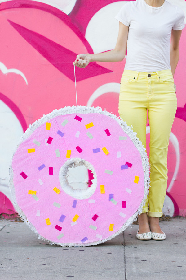 DIY Donut Pinata by Studio DIY | A Virtual Baby Shower For The Proper Pinwheel