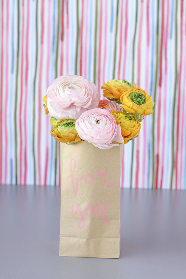 DIY Paper Flower Sacks by Papernstitch | A Virtual Baby Shower For The Proper Pinwheel
