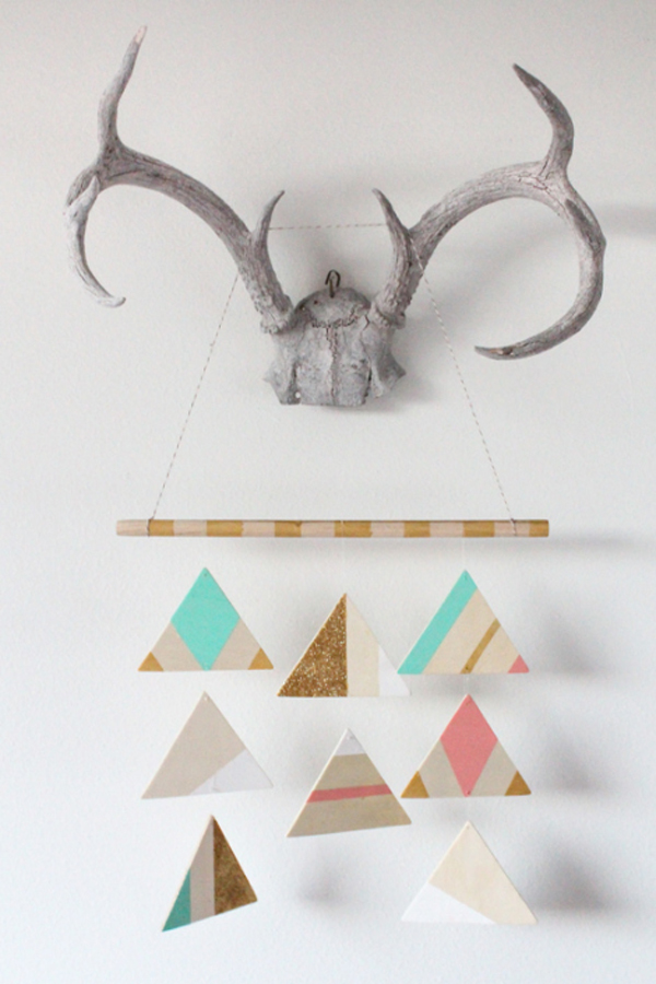 DIY Geometric Mobile by Sugar and Cloth | A Virtual Baby Shower for The Proper Pinwheel
