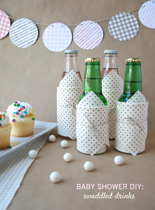 DIY Swaddled Bottles by ArtSocial | A Virtual Baby Shower for The Proper Pinwheel