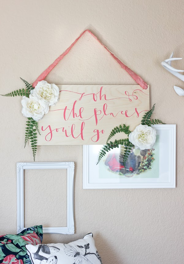 DIY Hanging Quote Sign By A Fabulous Fete | A Virtual Baby Shower for The Proper Pinwheel