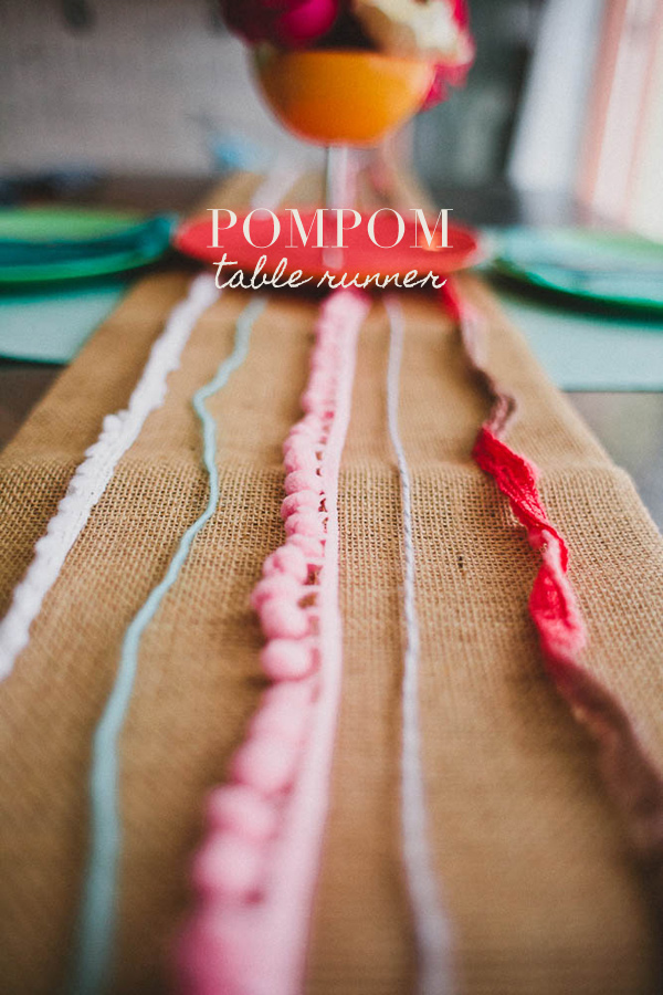 pom table runner