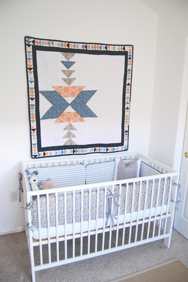 Geometric Quilt for The Proper Pinwheel by Yellow Bug Quilts
