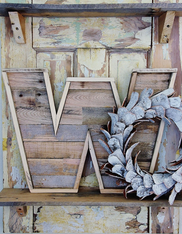Pallet Wood Letter by sonofwhale on etsy