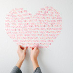 DIY Washi Tape Heart Wall Installation