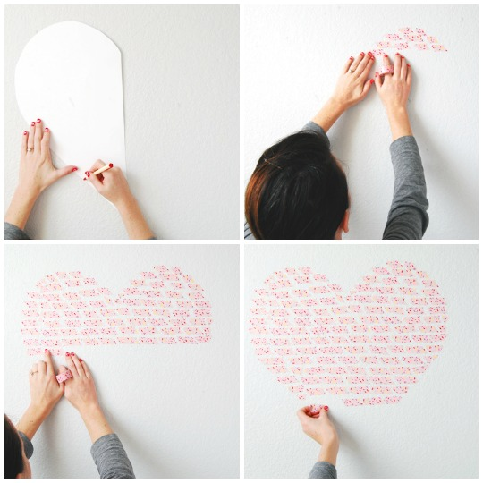 Washi Tape Heart Installation | The Proper Pinwheel