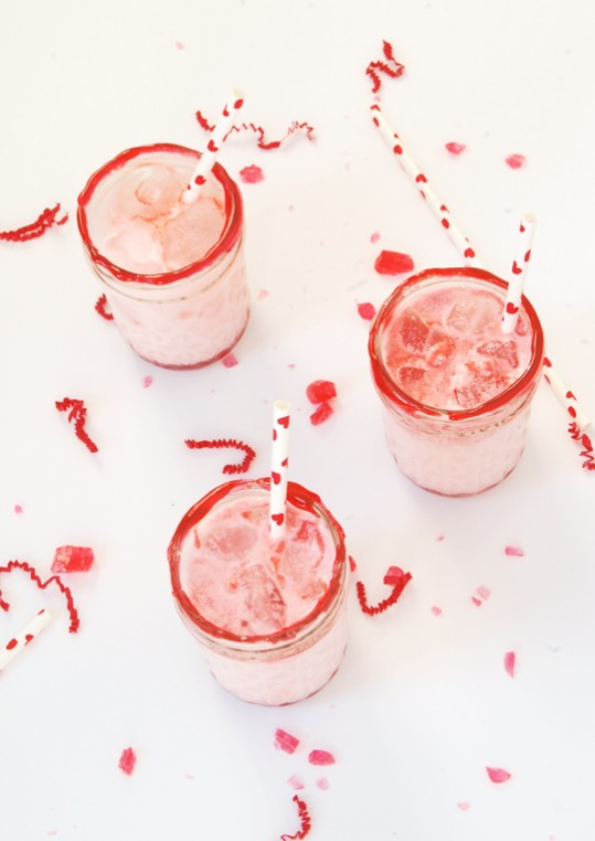 Candied Rim Raspberry Italian Soda | The Proper Pinwheel