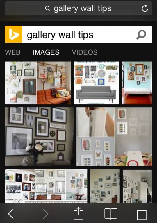 Gallery Wall with BING Rewards