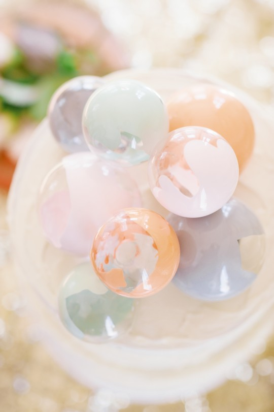 Paint-filled Ornament Cake Toppers