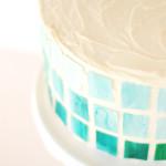 DIY // Watercolor Ombre Mosaic Cake