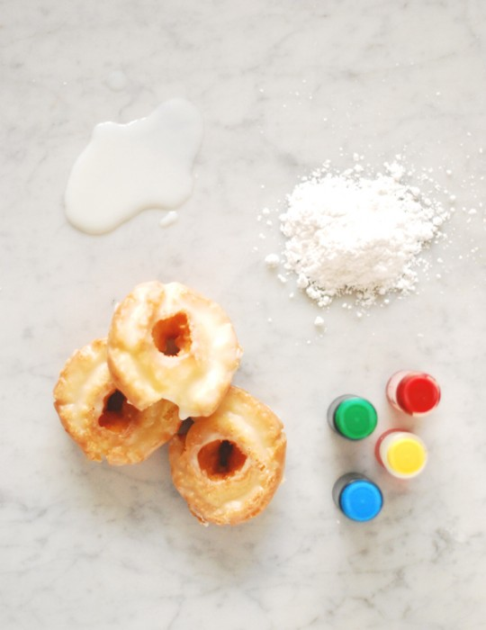 Color-blocked Old Fashioned Donuts