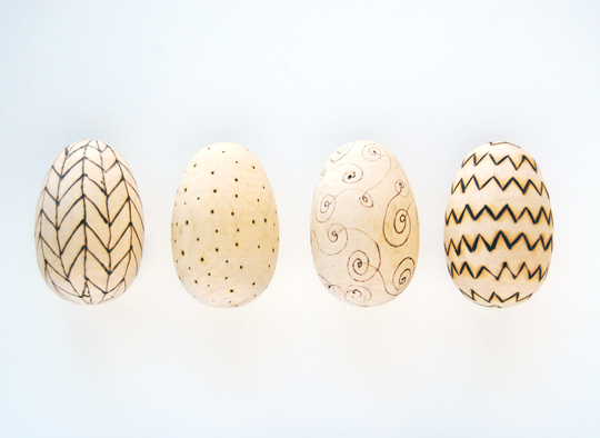 DIY Woodburned Eggs