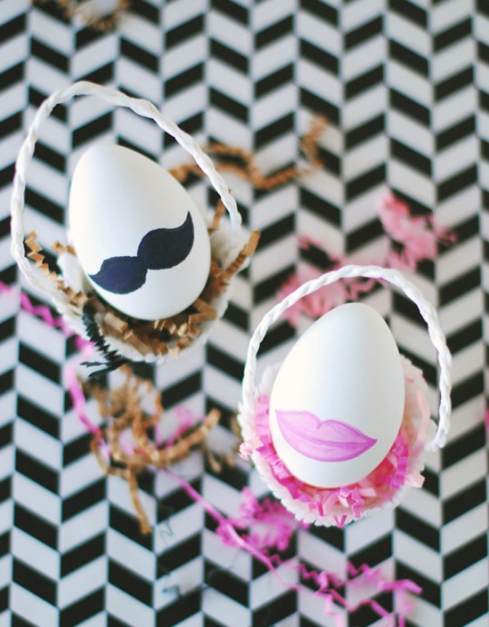 DIY His & Hers Easter Eggs