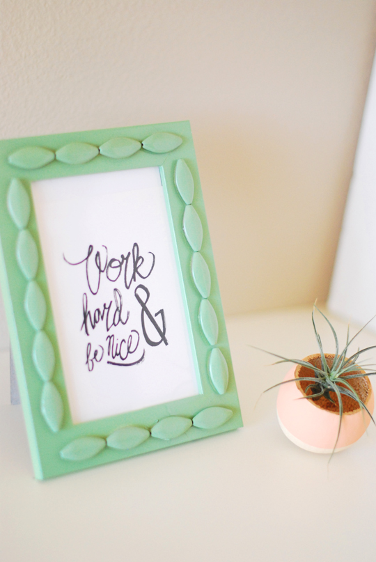 DIY Textured Frame