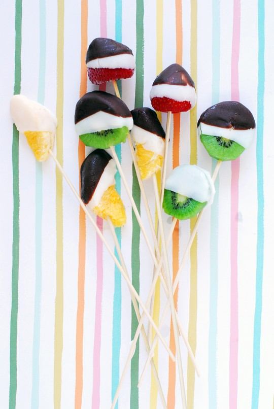 Chocolate Dipped Fruit Bites
