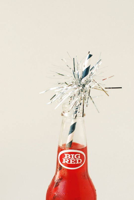 4th of July Sparkler Drinking Straws