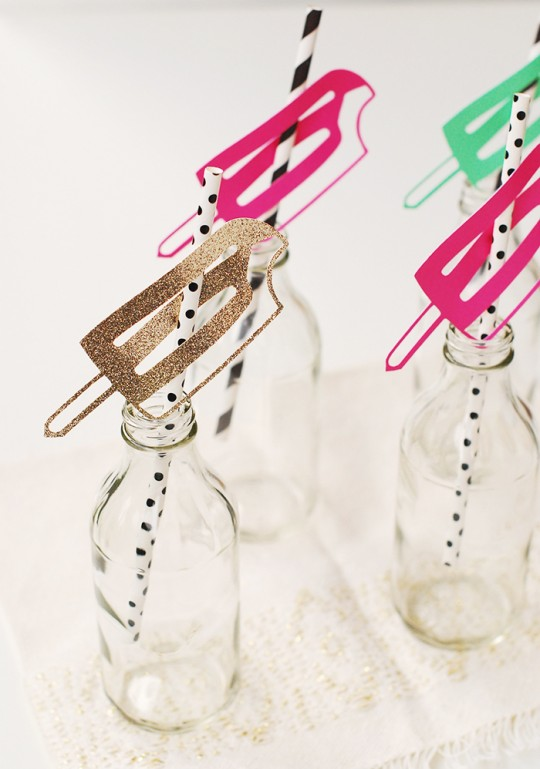 DIY Popsicle Drinking Straws