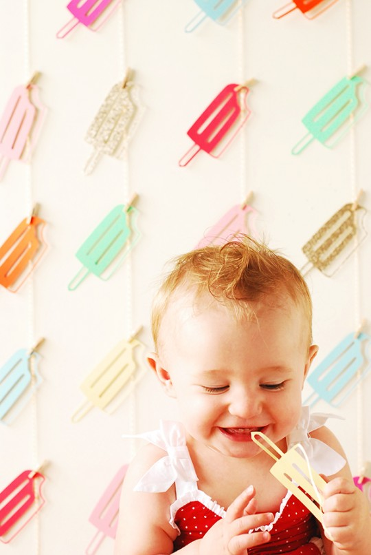 DIY Popsicle Party Backdrop