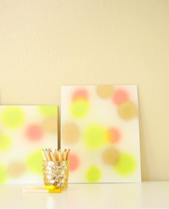 DIY \\ Paint Burst Art