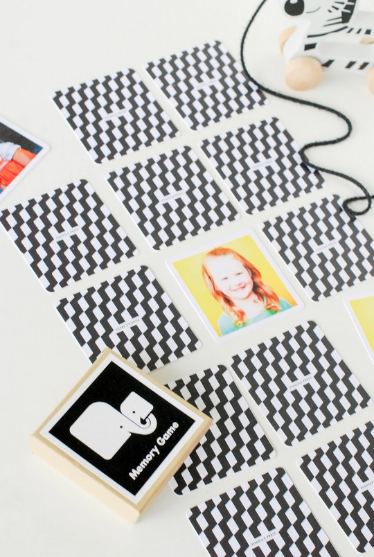 Memory Card Game with Pinhole Press