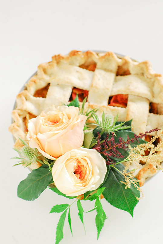 DIY Floral Pie Topper
