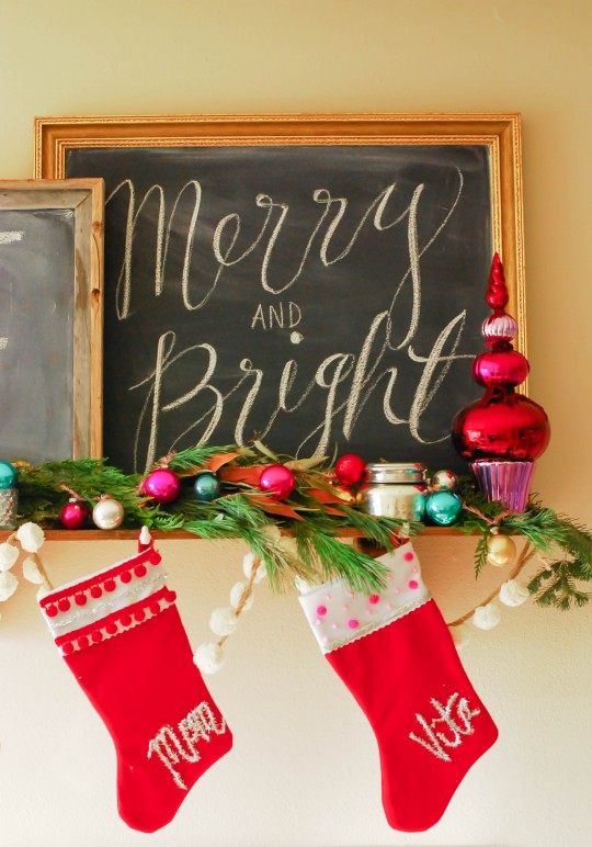 DIY \\ Tinsel Typography Christmas Stockings