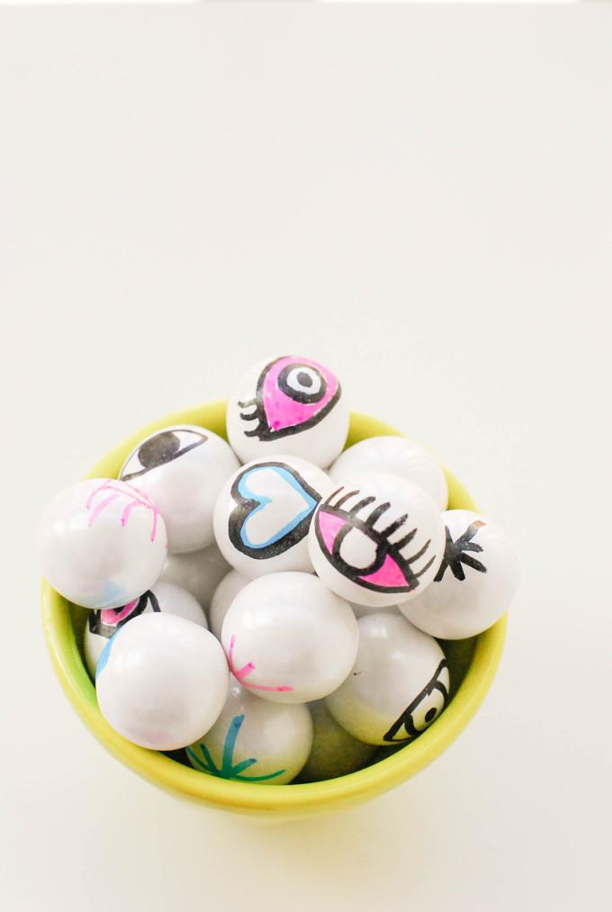 Printable Eyeball Valentines with DIY Eye Gumballs