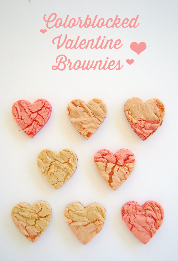 COLORBLOCKED VALENTINE BROWNIES