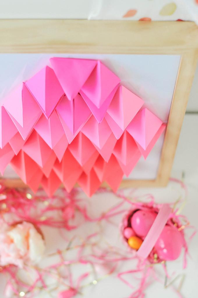 DIY Geometric Paper Easter Egg