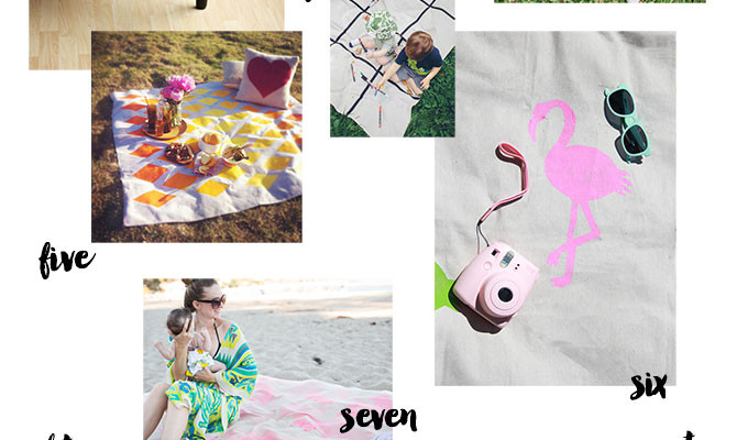 10 DIY Picnic Blankets & Tablecloths For Summer