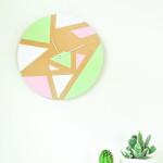 DIY \\ Geometric Wall Clock